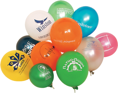 Печать на воздушных шарах — новый эффективный вид рекламы