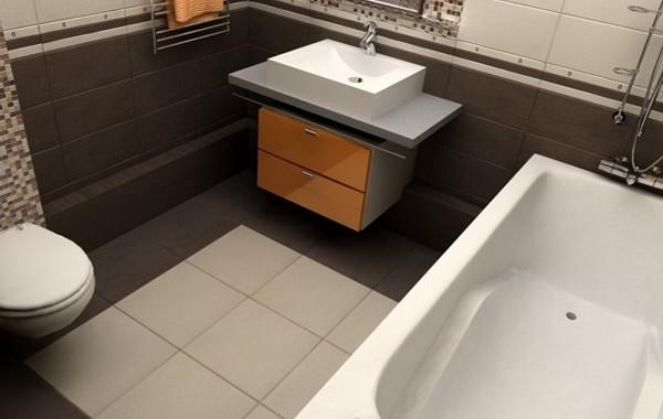 Пол, который выдерживает условия ванной комнаты